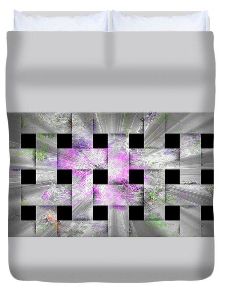 Glaring Flowers Duvet Cover by Amanda Eberly-Kudamik
