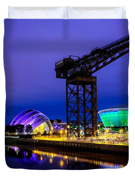 Glasgow At Night Duvet Cover