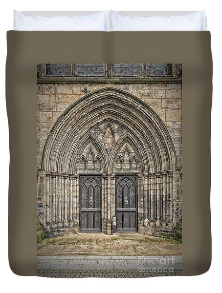 Glasgow Cathedral Doors Duvet Cover by Antony McAulay