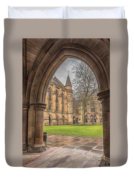 Glasgow University Throughthe Archway Duvet Cover by Antony McAulay