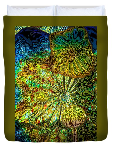 Glass Abstract 1 Duvet Cover by David Patterson