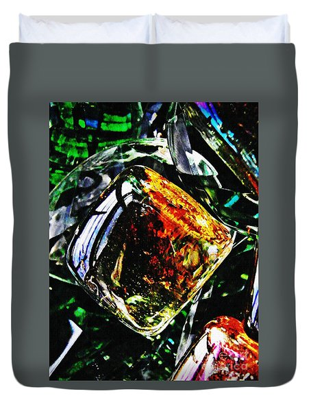 Glass Abstract 160 Duvet Cover by Sarah Loft