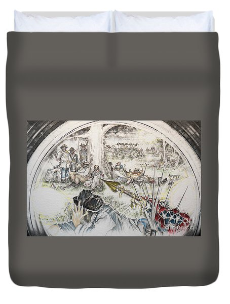 Glass Aftermath Duvet Cover by Scott and Dixie Wiley