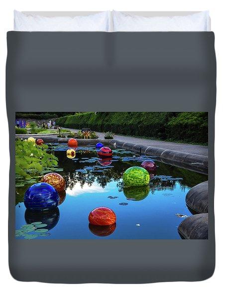 Glass At Biltmore Duvet Cover