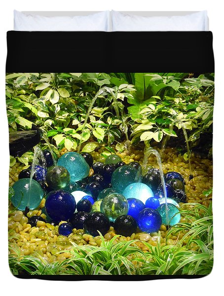 Glass Balls Display - Singapore Airport Duvet Cover