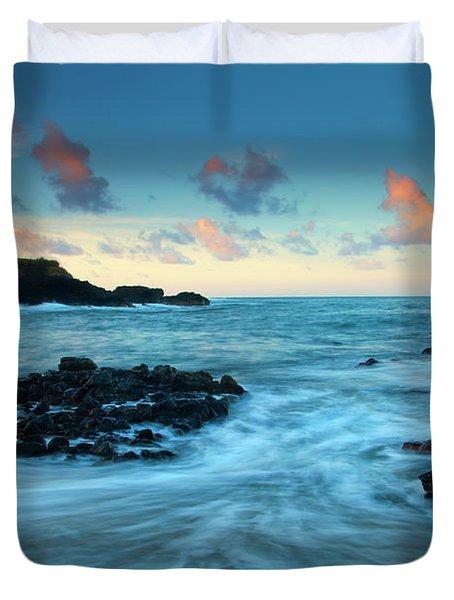 Glass Beach Dawn Duvet Cover by Mike  Dawson