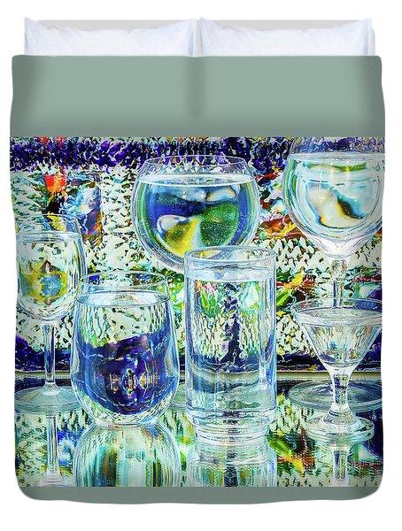 Glass Blues Duvet Cover