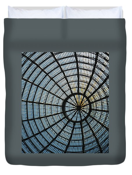 Glass Dome Roof Duvet Cover by Jocelyn Kahawai