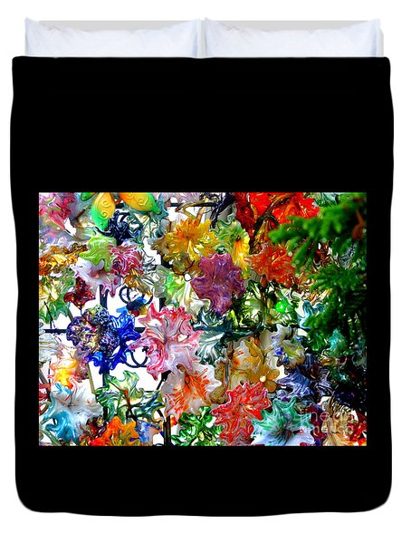 Glass Flower Garden In The French Quarter Of New Orleans Louisiana Duvet Cover by Michael Hoard
