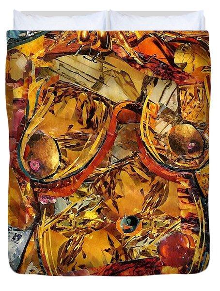 Glass Lady Duvet Cover