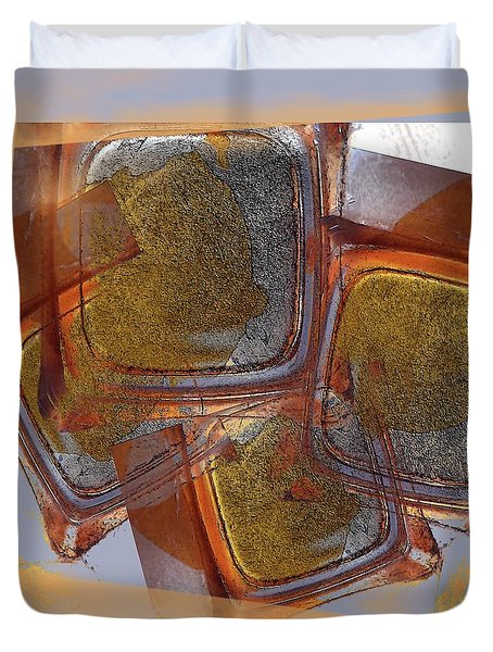 Glass Rust Abstract Duvet Cover