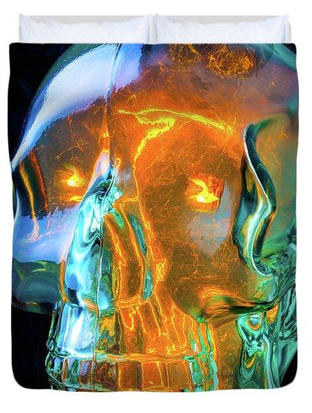 Glass Skull Duvet Cover