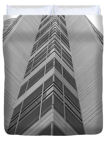 Duvet Cover featuring the photograph Glass Tower by Rob Hans