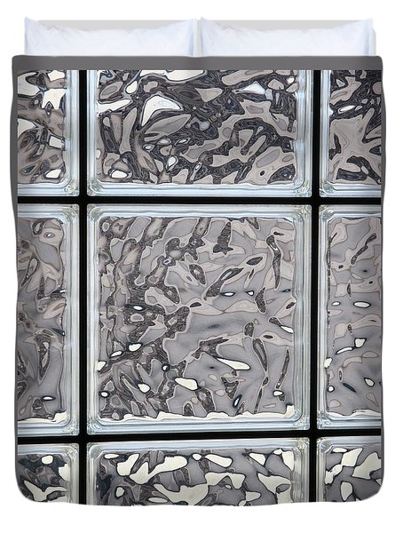 Glass Window Tiles Duvet Cover by Jeff Gater
