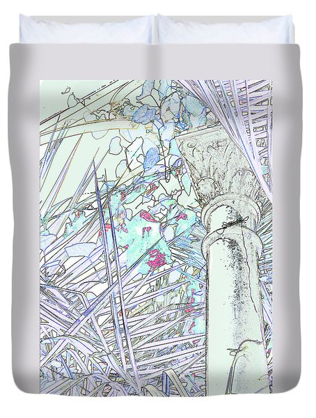 Duvet Cover featuring the photograph Glasshouse Jungle by Nareeta Martin