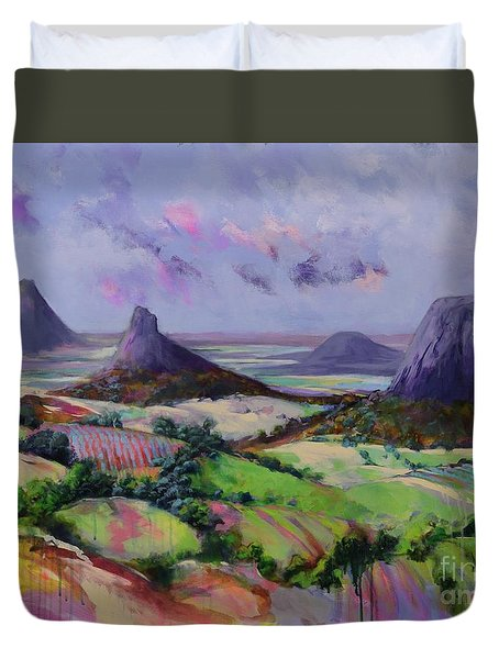 Glasshouse Mountains Dreaming Duvet Cover