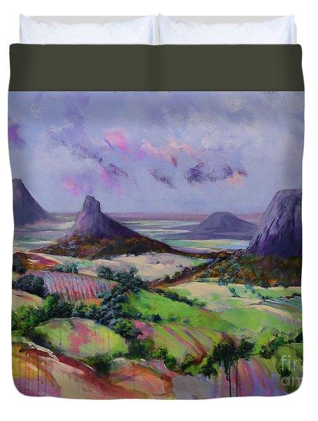 Glasshouse Mountains Dreaming Duvet Cover