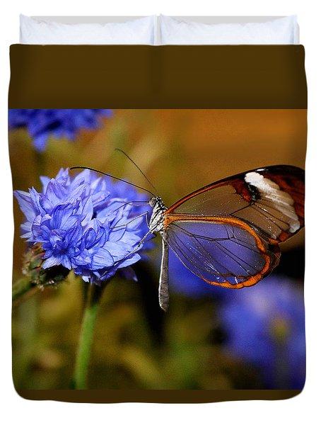 Glasswing Butterfly Duvet Cover