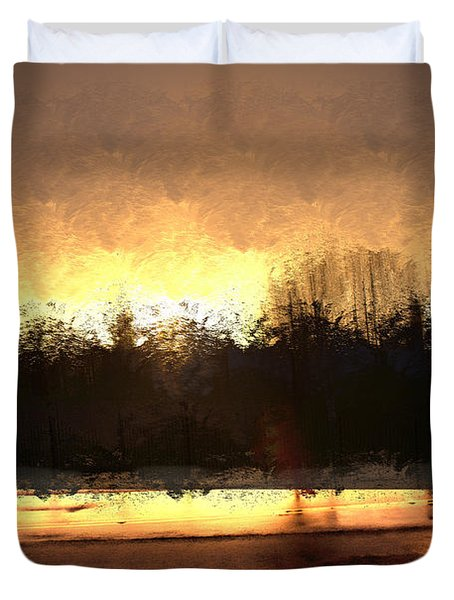 Glassy Dawn Duvet Cover by Terence Morrissey