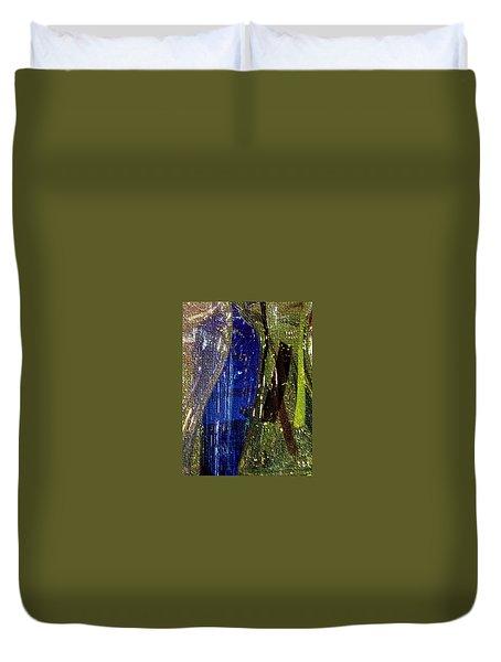 Glassy Mosaic In Blue Duvet Cover