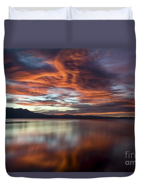 Glassy Tahoe Duvet Cover by Mitch Shindelbower