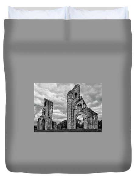 Duvet Cover featuring the photograph Glastonbury Abbey by Elvira Butler