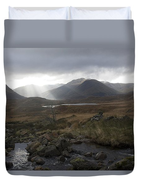 Glen Affric Storm Duvet Cover by Sue Arber