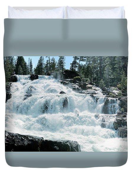 Glen Alpine Falls Mist Duvet Cover