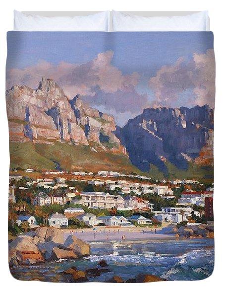 Glen Beach, Cape Town Duvet Cover