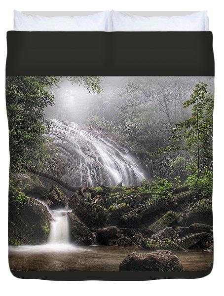 Glen Burney Falls Duvet Cover
