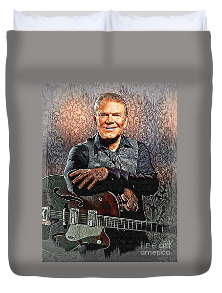 Glen Campbell - Singing Icon Duvet Cover