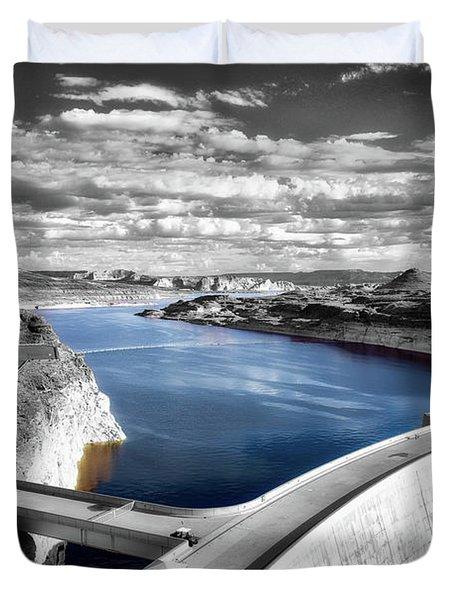 Glen Canyon Dam Lake Powell Arizona Sc Duvet Cover