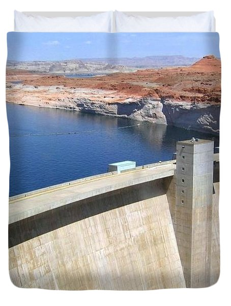 Glen Canyon Dam Duvet Cover by Will Borden