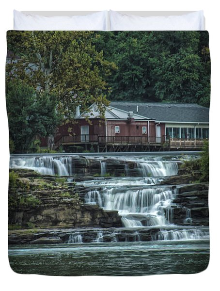 Glen Farris On The Falls Duvet Cover