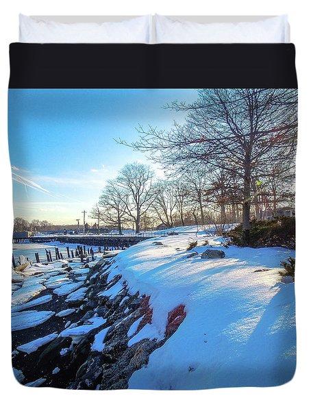 Glen Island Snowfall Duvet Cover