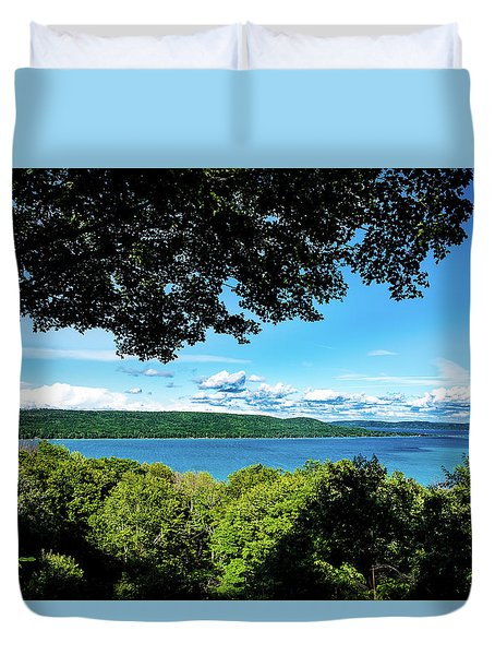 Duvet Cover featuring the photograph Glen Lake by Onyonet  Photo Studios