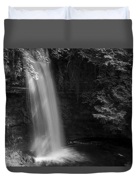 Glencar Waterfall Co Leitrim Duvet Cover