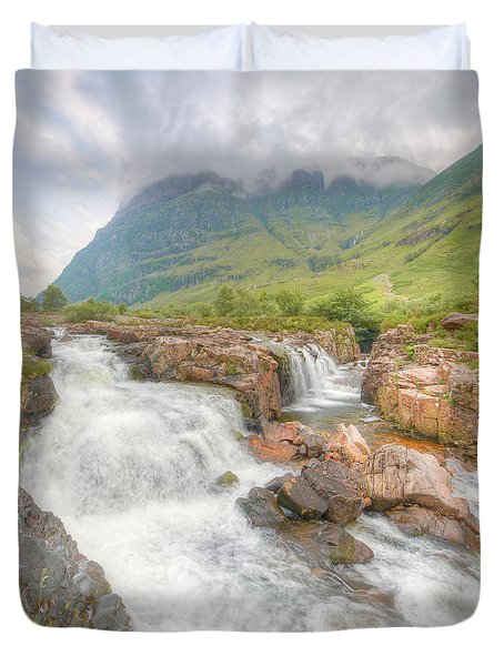 Glencoe And The River Coe Duvet Cover