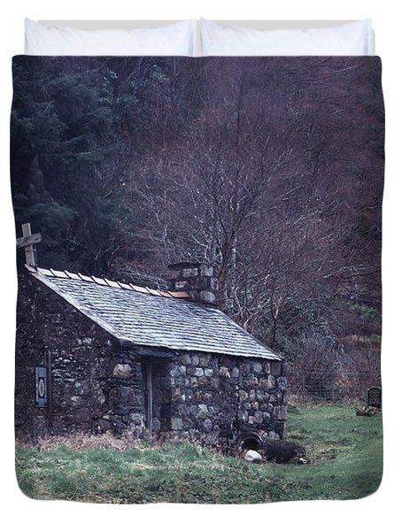 Glencoe Chapel Duvet Cover
