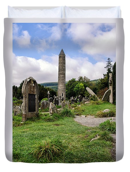 Glendalough Tower Ireland Duvet Cover