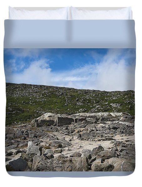 Duvet Cover featuring the photograph Glendasan Abandoned Mining Site Village by Enrico Pelos