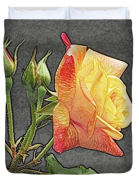 Glenn's Rose 2 Duvet Cover by Michael Peychich