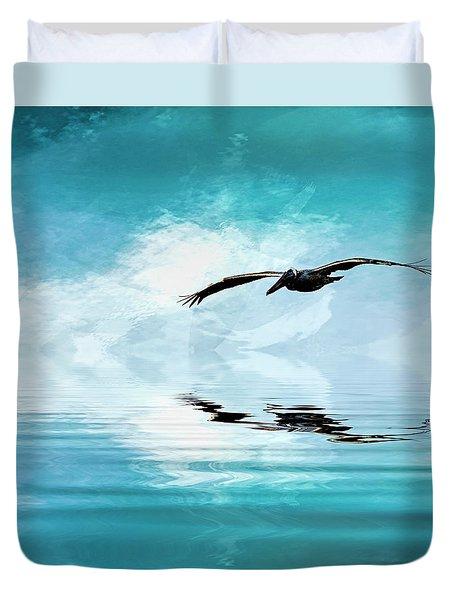 Gliding Duvet Cover by Cyndy Doty