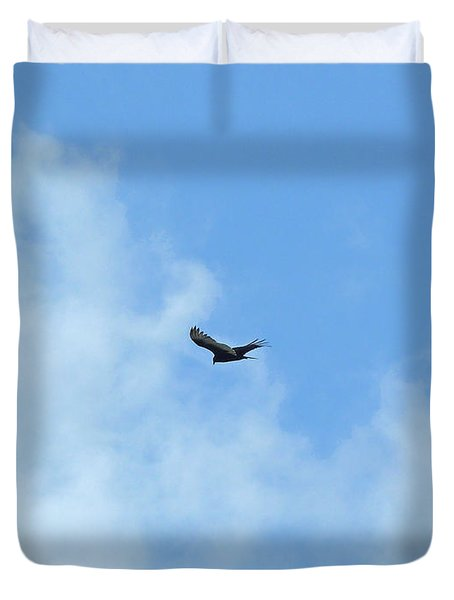 Gliding The Skies Duvet Cover