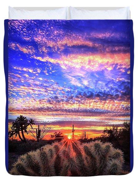 Glimmering Skies Duvet Cover