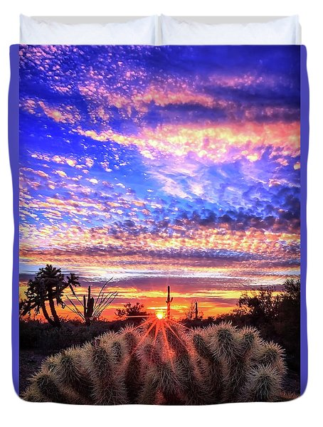 Duvet Cover featuring the photograph Glimmering Skies by Rick Furmanek