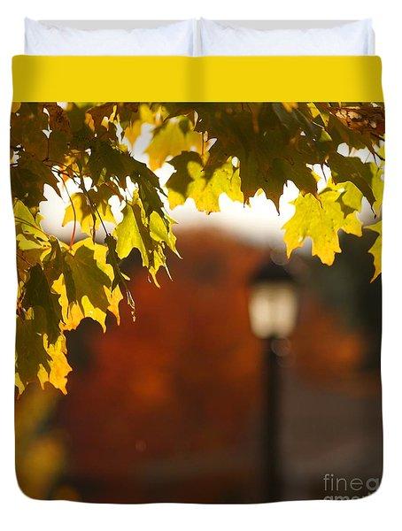 Glimpse Of Autumn Duvet Cover by Aimelle