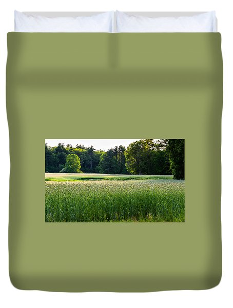 Glistening Green Duvet Cover