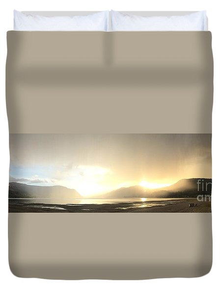 Glittering Shower Duvet Cover by Victor K
