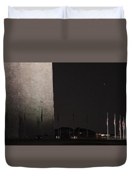 Glmpse Of The Washington Monument Duvet Cover